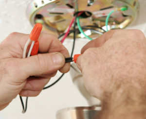 sorting wires out electrical contractor