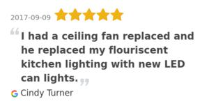ceiling fan electrician Orange beach Alabama